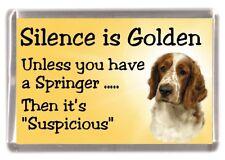 """Welsh Springer Spaniel Dog Fridge Magnet """"Silence is Golden ....."""" by Starprint"""
