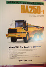 ✪altes original Prospekt/Sale Brochure Komatsu Articulated Dump Truck HA250-1
