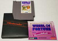 Wheel of Fortune: Featuring Vanna White (Nintendo NES, 1992) Cart Manual Sleeve