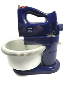 Krups 3 Mix 4000 Purple Hand Mixer w/ Stand Bowl Attachments