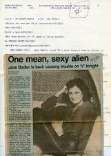 JANE BADLER FAYE GRANT V THE VISITORS RARE ORIGINAL 1984 NBC TV PRESS MATERIAL