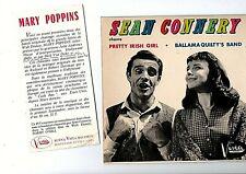 45 T MUSIQUE FILM MARY POPPINS AVEC SEAN  CONNERY EX BIEM