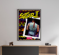 Street Fighter 2 1991 Capcom Arcade Retro Video Game Poster 18 x 24 inches