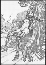 GOBLIN QUEEN BY KLEBER LIRA - ART PINUP Drawing Original