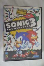 Z875 Sega Mega Drive Sonic 3 The Hedgehog Japan MD F/S x