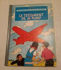 Herge les Aventures de Jo, Zette et Jocko le Testament de M. Pump Casterman 1951