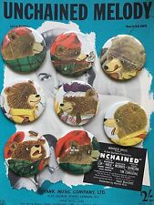 Richard Scarry Hipster illustration book x 8 pin badge set Grizzly Bear Hunter