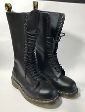 Doc Dr Martens Airwair 20 Eye Knee High Black Leather Boot  EU 37 US L6 M5 NWOB