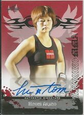 Hitomi Akano 2010 Leaf MMA Red Autographs Card # AUHA1 UFC
