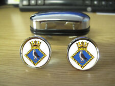 HMS SAKER CUFFLINKS (IMAGE BLURRED TO PREVENT WEB THEFT)