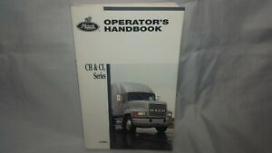 Mack 2000 Operators Handbook Manual CH & CL series TS78401