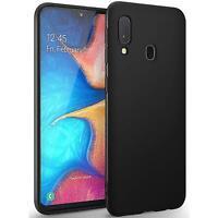 Hülle für Samsung Galaxy A20e Schutzhülle Handy Hülle Slim Case TPU Matt Schwarz
