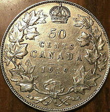 1919 CANADA SILVER 50 CENTS - Excellent example!
