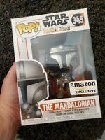 Funko POP! Star Wars 345 The Mandalorian Chrome Mando EXCLUSIVE FREE SHIP