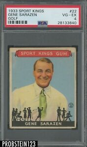 1933 Goudey Sport Kings Golf #22 Gene Sarazen PSA 4 VG-EX