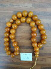 Antique Vintage OLD Amber Beads Rosary 71 gram size  15-16 mm