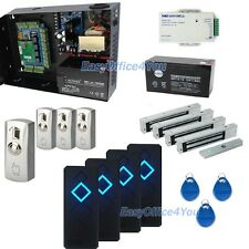 Full 4 Door TCPIP RFID Access Control Kit+280kg Mag locks+Big PSU+Backup Battery