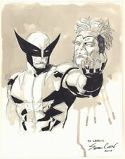 Wolverine with Sabretooth's Severed Head Ink Wash Commission art by Sean Chen