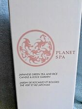 New - Avon Planet Spa - Japanese Green Tea and Rice Candle & Rock Garden #B316