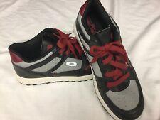 OAKLEY Men's Red Lace Black/Gray Tennis Shoes Sneakers Skate Size 8, EUC !