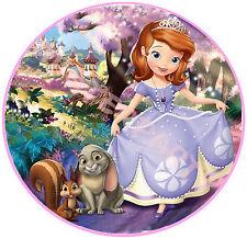Cialda - Ostia per torte Principessa Sofia - tonda e personalizzabile! Anche A3!