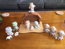 Precious Moments Christmas 10 Piece Nativity Set With Box