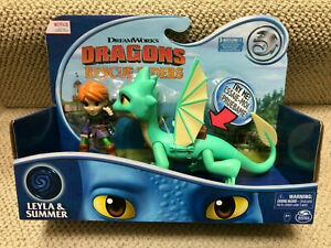 New! Netflix DRAGONS RESCUE RIDERS SUMMER & LEYLA FIGURE w/ sound Action TOY HTF