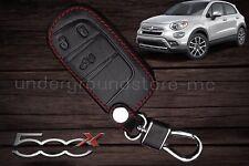COVER CHIAVE FIAT 500X PELLE NERA KEYLESS CON SISTEMA DI ACCENSIONE START&STOP