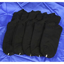 10 Pairs Mens Cotton Low Cut Ankle Socks Sports Casual No Patch Type Black #A1