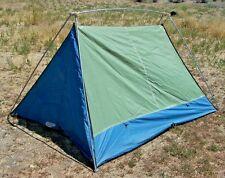 Vintage Eureka Timberline 2 A-frame Tent 5 x 7' Green & Blue ~Floor patch ~Nice!
