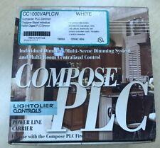 New White Lightolier CC100VAPLCW Compose PLC Dimmer Designer-Styled Switch