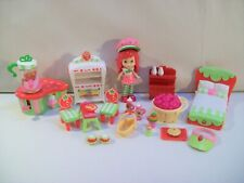 Strawberry Shortcake Mini Doll Figure & Furniture Table Chairs Bed