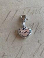 Brighton Passion HEART Charm Silver Excellent Condition Very Pretty Love