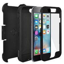 AMZER NERO FULL BODY Hybrid carta di credito caso Clip fondina per iPhone 6 + 6S PLUS