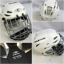Easton Stealth S9 Hockey Helment Small Sr. White With Cage EUC YGI MB