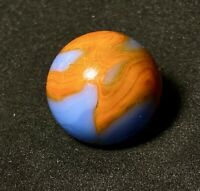 "Vintage Marble Alley Agate or CAC Blue & Orange Swirl  5/8"""