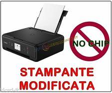 STAMPANTE CANON MULTIFUNZIONE TS5050 - MODIFICATA - CON 10 CARTUCCE INCLUSE WIFI