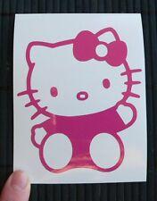 Adesivo Hello Kitty che saluta auto moto scooter wall sticker decal vynil vinile