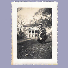 Vintage Photo 1948 BELOIT WISCONSIN Posing by Building