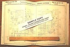 1964 Kaiser JEEP SIX Series J Models AEA Wiring Diagram 11 x 17 Sheet LAST 1!