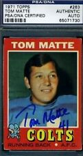 TOM MATTE SIGNED PSA/DNA 1971 TOPPS AUTOGRAPH AUTHENTIC