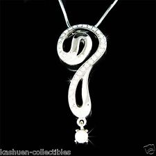 ~Question Mark~ made with Swarovski Crystal Celebrity Sparkling Necklace Jewelry