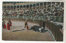Muerte Del Toro - Photo Postcard c1915 / Bull fighting