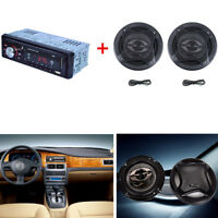 1-Din In-dash Car Stereo Audio MP3 Player + Car Subwoofer Tow Speakers 400W 90dB