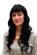 Perruque, noir, poil long , frange 6313-1b env. 55 cm