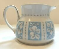 Royal Doulton Hampton Court Small Creamer Blue Floral Gold Made in England