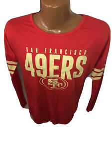 NWOT NFL 47 Brand San Francisco 49ers Women's Long Sleeve Double Sided T Shirt