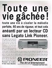 Publicité Advertising 1993 Platine lecteur CD Pioneer