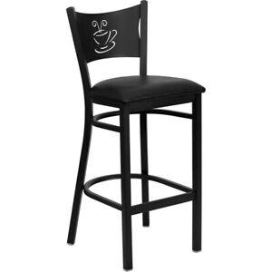 Flash Furniture Metal Restaurant Bar Stool, Black - XU-DG-60114-COF-BAR-BLKV-GG