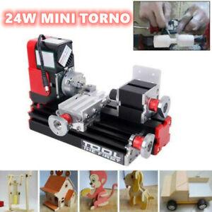 Ridgeyard Mini Torno Motorizado de Metal Herramienta pequeña de DIY Frescar 24W